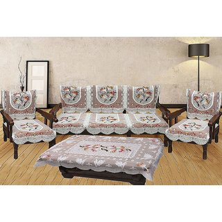 Aanu Creation  5 Seater Sofa Cover Set -10 Pieces with 1 Center Table Cover