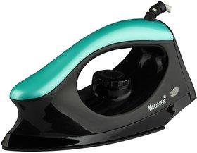 MONEX Majestry Non-stick Extra-power solid 1000 W Dry Iron  (Black-Green)