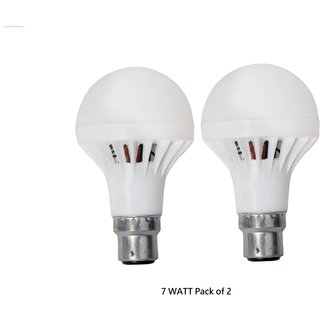 Pack Of 2 HK B22 7 Watt Cool Daylight LED Bulb With 6 Months Warranty