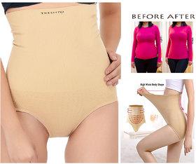 Tkeshto High Waist Womens Cotton Blend Tummy Tucker  Back Shaper