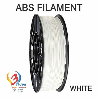 ABS 3D Printing Filament (White) Print temperature - 220-230C Infill Speed - 3090mm/s 3D Printing Material