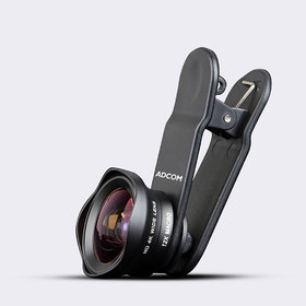 Adcom Wide Angle + Macro Clip on Mobile Phone Camera Lens - Compatible with All iPhone  Android Smartphones (Black)