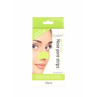 Nose Pore Strips Green Tea Wax Strips for 10 Pcs
