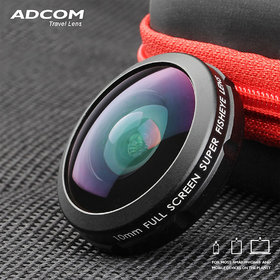 Adcom Full Screen Super 210 Degree Fisheye Mobile Phone Camera Lens - Compatible with All iPhone  Android Smartphones (