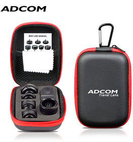 Adcom 8 in 1 Mobile Phone Camera Lens Kit Compatible with All iPhone  Android Smartphones (Black)