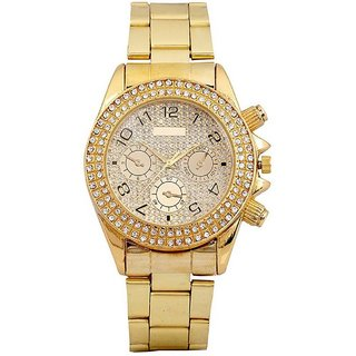 AD DIAMOND GOLD PLATED RICH MAN Analog Watch - For Boys, Men 6 month warranty
