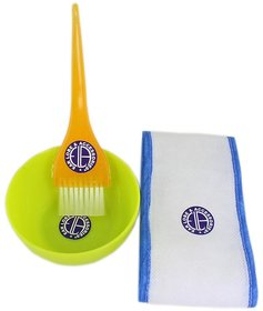 Face Pack Combo Face Pack Bowl +Face Pack Brush+Disposaible Hair Band No-7 (Color May Vary)