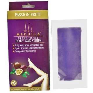 Full Body Wax Strips Passion Fruit (12 Two Sided Strips)