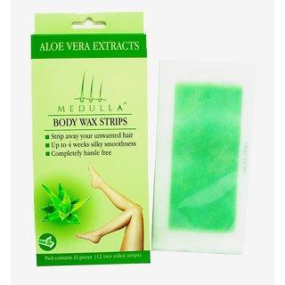 Full Body Wax Strips Aloe Vera (12 Two Sided Strips)