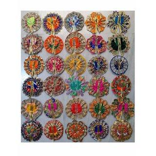Dhruv Puja Articles Laddu Gopal Poshak for Size 1, Assorted Colors, Multi Colors - Set of 10