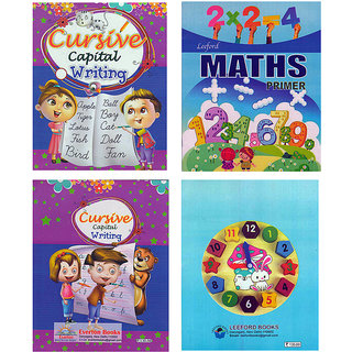 SIMPLE  EASY LEARNING SET of 2 BOOKS for KIDS 2 - 4 YEARS of age  (ENGLISH and MATHS) 4
