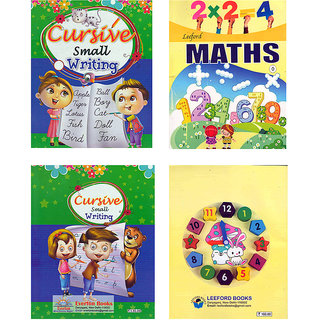SIMPLE  EASY LEARNING SET of 2 BOOKS for KIDS 2 - 4 YEARS of age  (ENGLISH and MATHS) 5