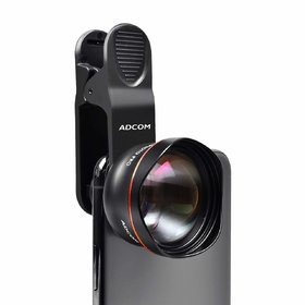 Adcom AD- 60MM Pro No Deformation HD Telephoto 2X Mobile Phone Lens Compatible All iPhone  Android Smartphones (Black)