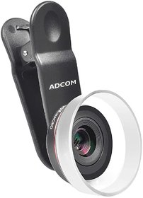 Adcom HD 10x Macro Lens with Mobile Phone Camera Compatible with All iPhone and Android Smartphones (Black)