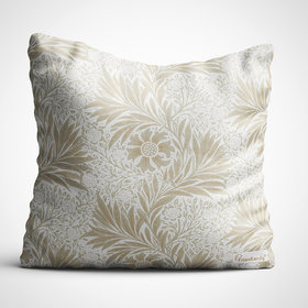 Frionkandy Floral Themed 12X12 Inches / 30X30 Cms Cushion Cover with Filler - Off-White (SHKE1002)