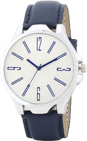 MF Popular And Attractive Blue Strap Color Silver Color Dial Simple And Elegant Look For Boys And Kids