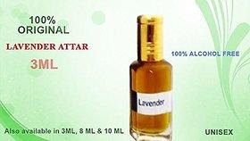REBUY 100 Natural Lavender Attar/Itra - 3 ML for Freshness and Calmness