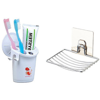 Buy 1pc of Suction Toothbrush Holder and Get 1pc of Suction Soap Dish Free