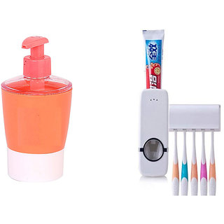 Buy 1pc Automatic Toothpaste Dispenser and get 1pc Liquid Soap Dispenser Free