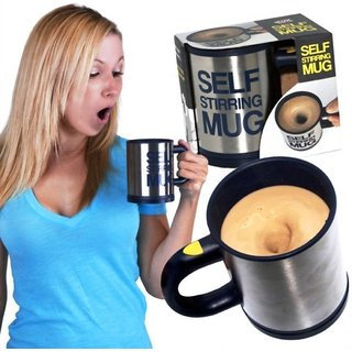 Auto Mixing Cup For Tea, Coffee, Hot Chocolate Self Stirring Cup Stainless Steel Mug