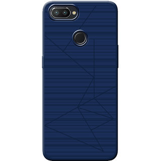 Cellmate Leke Professional Strip Back Case and Cover for Oppo Realme 2 Pro - Blue