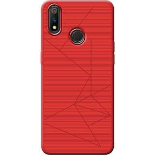 Cellmate Leke Professional Strip Back Case and Cover for Oppo Realme 3 Pro - Red