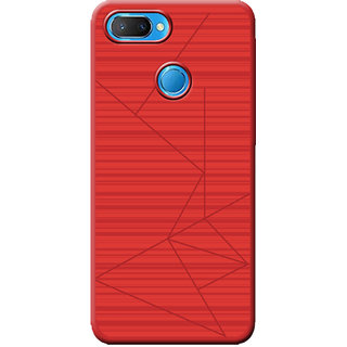 Cellmate Leke Professional Strip Back Case and Cover for Oppo Realme U1 - Red