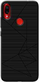 Cellmate Leke Professional Strip Back Case and Cover for Redmi Note 7S - Black