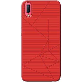 Cellmate Leke Professional Strip Back Case and Cover for Vivo Y93s - Red