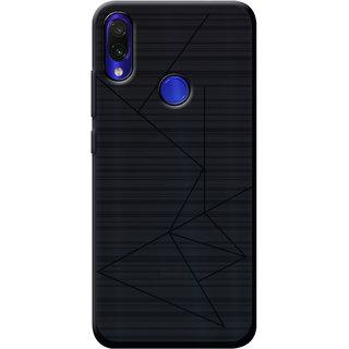 Cellmate Leke Professional Strip Back Case and Cover for Redmi Note 7 Pro - Black