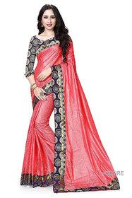 eDESIRE Gajri Colour Art Silk Saree with Blouse Piece
