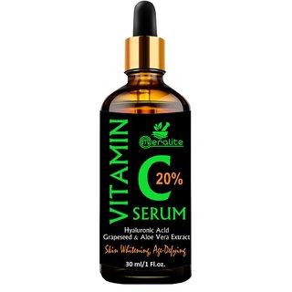 Meralite Vitamin C Serum for face with Hyaluronic acid, Ascorbic acid, Aloe vera (ML-BB-VIT-C-30ml Pack of 1)