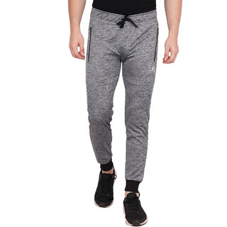 Built Natural Polyster Mens Slim Fit Active Wear Sports Wear & Gym Wear Jogger | Grey Heather | Small