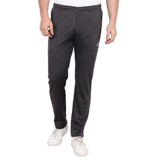 Built Natural Polyster Mens Regular Fit Active Wear Sports Wear & Gym Wear Trackpant | Charcoal Grey | Small