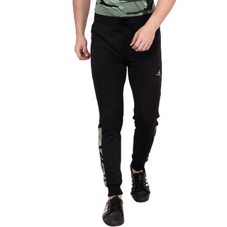 Built Natural Polyster Mens Slim Fit Active Wear Sports Wear & Gym Wear Jogger | Black | Small