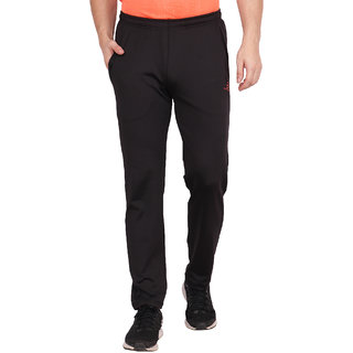 Built Natural Polyster Mens Regular Fit Active Wear Sports Wear & Gym Wear Trackpant | Black | Small