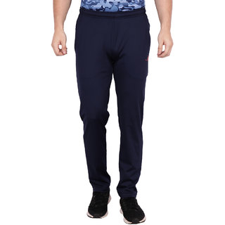Built Natural Polyster Mens Regular Fit Active Wear Sports Wear & Gym Wear Trackpant | Navy | Small