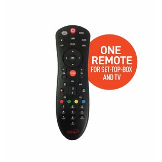 Dish TV Universal Set Top Box Remote Control (Black)