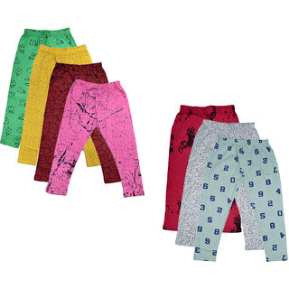 IndiWeaves Girls Combo Pack Of Cotton Printed Capris (Pack of 7)