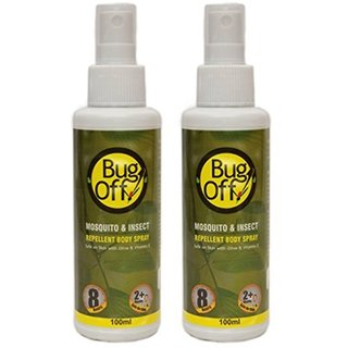 Bug Off Mosquito  Insect Repellent Body Spray PACK OF 2