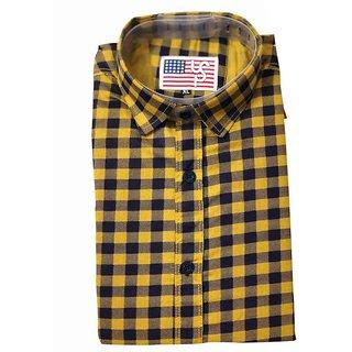 Us Pepper Yellow Check Shirt