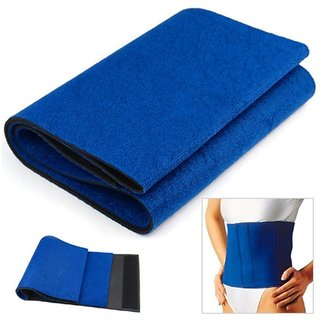 Emeret Sweat Trimmer Upper Body Regular Size Belt (Blue)