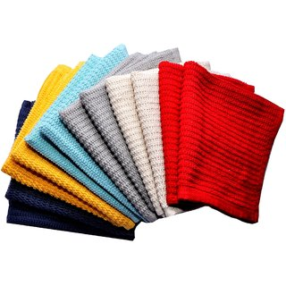 Bpitch 10pc solid kitchen towel set 12x12 inch