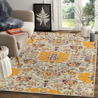 Status 3D Printed Vintage Persian Carpet Rug Runner For Bedroom/Living Area/Home with Anti Slip Backing ( 4x 5 Feet-Medium , Multi)-Pack of 1