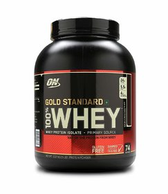 Optimum Nutrition (ON) Gold Standard 100 Whey Protein Powder - 5 lbs, 2.27 kg (Double Rich Chocolate)