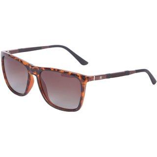 ROZIOR Italy UV400 Polarised Wayfarer Unisex Sunglasses (TORTOISE-TEA) RSP60426C4