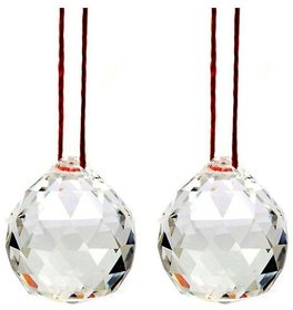 Original Hanging Feng Shui Crystal Ball With String-2 piece