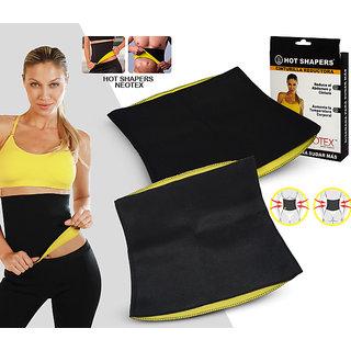 Battlestar  Hot Shaper Belt, Sweat Slim Belt for Men Women Waist Trimmer Stomach Belt Shaper Fitness Belt Yoga wrap hot Belt Unisex Weight Loss Fat Burner Back Pain Gym Running Travel Tummy Workout code-HotSB26