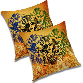 RADANYA Printed Polyester Cushion Cover Set of 2 Multicolor,18x18 Inches