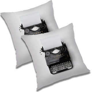 RADANYA Abstract Polyester Cushion Cover Set of 2 Black,20X20 Inches